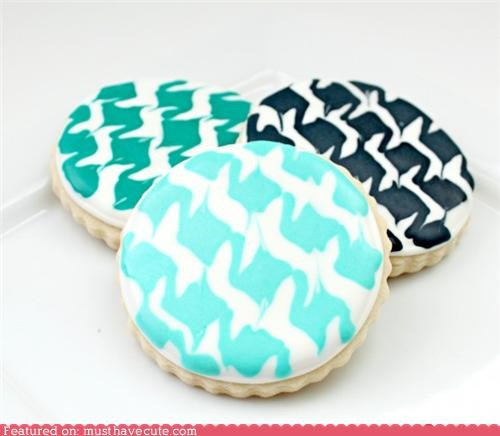 cookies,epicute,houndstooth,icing,pattern