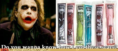 batman,dark knight,joker,otter pops,scars
