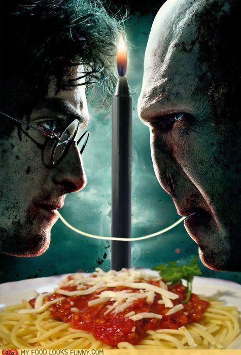 candle,date,Harry Potter,lady and the tramp,romance,spaghetti,voldemort