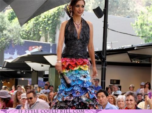 cool accessories,craft,DIY,flamenco gown,magazines