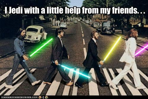 I Jedi With A Little Help From My Friends. . .