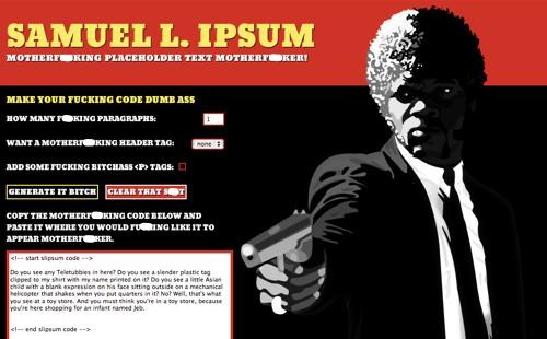 Samuel L. Jackson Filler Text Generator of the Day