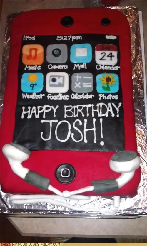 apps,birthday,cake,fondant,icing,iphone,ipod