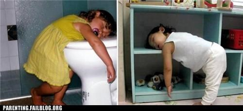 bookshelf,napping,Planking,sleeping,toddlers,toilet