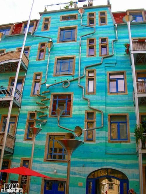 art,building,drain,instrument,modification,Music,rain