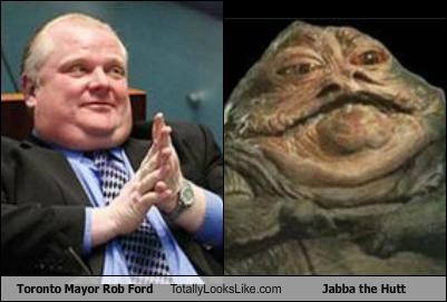 Canada,canadian,fictional characters,jabba the hutt,overweight,political politicians,rob ford,science fiction,star wars,toronto