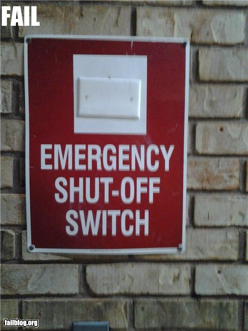Emergency Shut Off FAIL