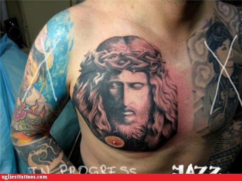 Jesus Seems to Disapprove of Your Nipple
