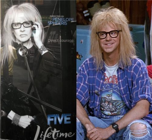 Penelope Spheeris, Director of Wayne's World, totally looks like Garth from Wayne's World