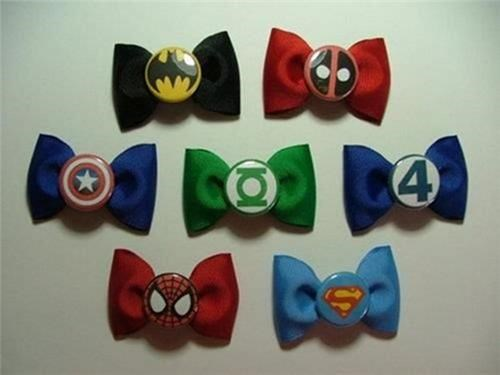 Superhero Bow Ties of the Day
