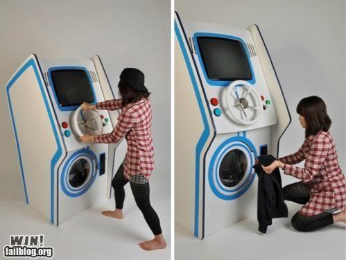 arcade,arcade machine,chores,DIY,game,laundry,modification,nerdagsm