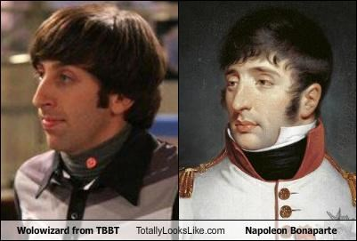 Wolowizard from TBBT Totally Looks Like Napoleon Bonaparte