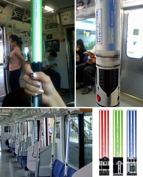 Lightsabers on a Train of the Day