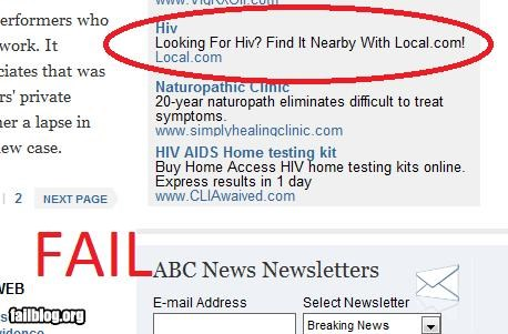Ad,failboat,google,g rated,Professional At Work,The HIV,wtf