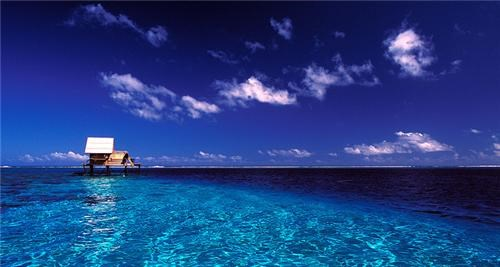 Ocean Blue, Leeward Islands, French Polynesia