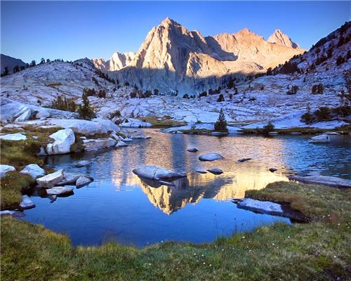 Mount Wallace Picture Peak and Sailor Lake, Eastern Sierra, California