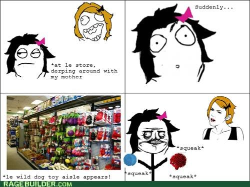 dogs,me gusta,Rage Comics,shopping,squeaky toy