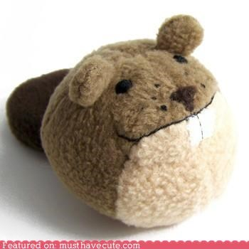 ball,beaver,fleece,Plush,round,toy