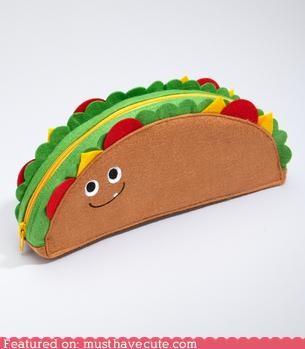 face,felt,taco,wallet,zipper