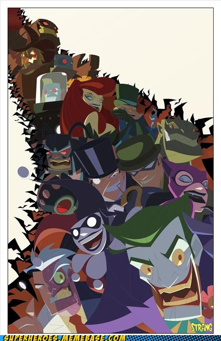 Awesome Art,bane,catwoman,clayface,Harley Quinn,joker,killer croc,mr freeze,poison ivy,Riddler,scarecrow,two face