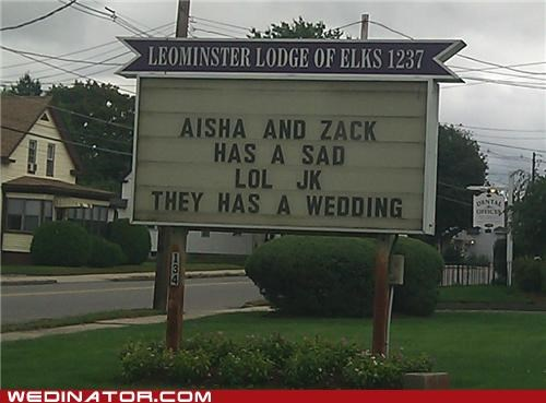 LOL JK They Has A Wedding!