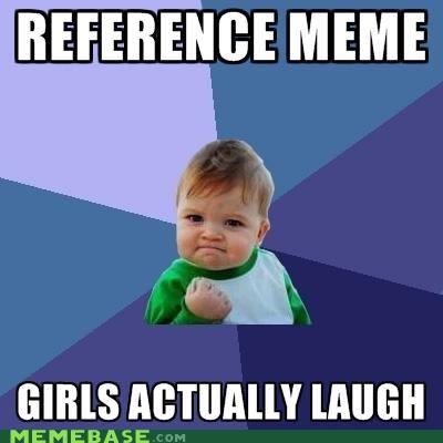 girls,laugh,lelah,meta,reference,success kid