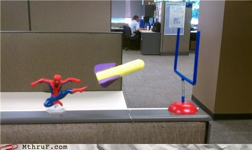 arts and crafts,field goal,football,special teams,Spider-Man