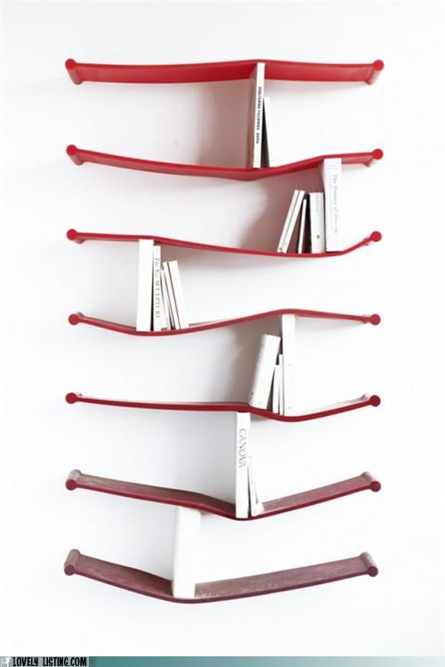 Rubber Bookshelves: So Hot Right Now!