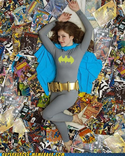 Classic: I'd Like to Peruse Her Comic Collection