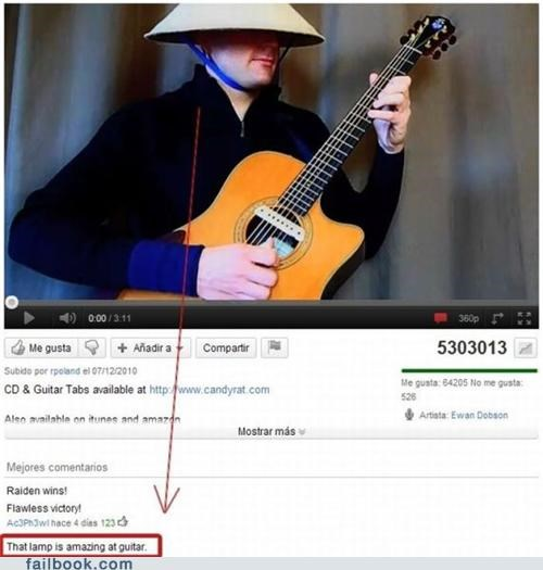 guitar,lamp,lol,top comments,youtube