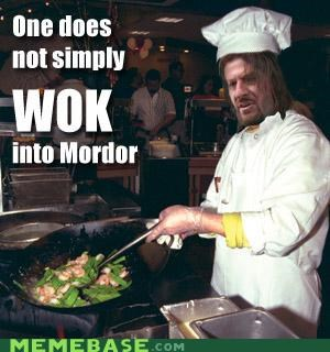 Lord of the Rings,Memes,mordor,one does not,puns,walk,wok