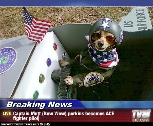 Breaking News - Captain Mutt (Bow Wow) perkins becomes ACE fighter pilot