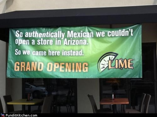 arizona,immigration,mexico,political pictures,restaurant