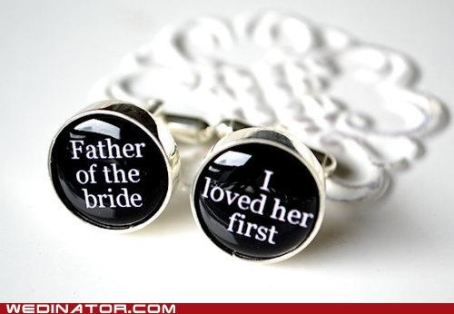 cuff links,father of the bride,funny wedding photos