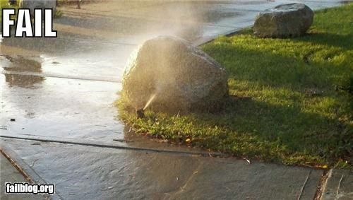 Sprinkler Effectiveness FAIL