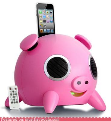 cute,hog,ipig,ipod,Music,oink,pig,Songs