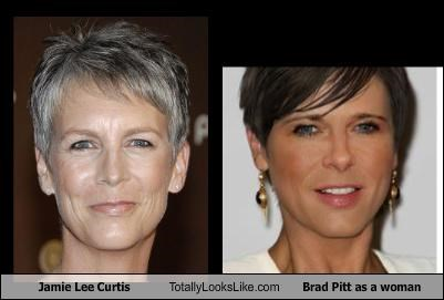 actor,actors,actress,actresses,brad pitt,brad pitt as a woman,jaime lee curtis