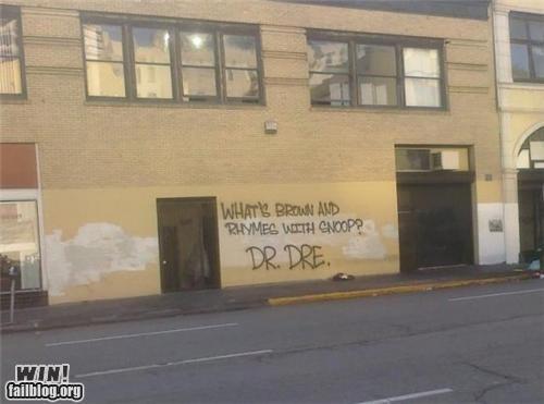 clever,dr dre,graffiti,hip hop,joke,rap,rhyme,snoop dogg,tag