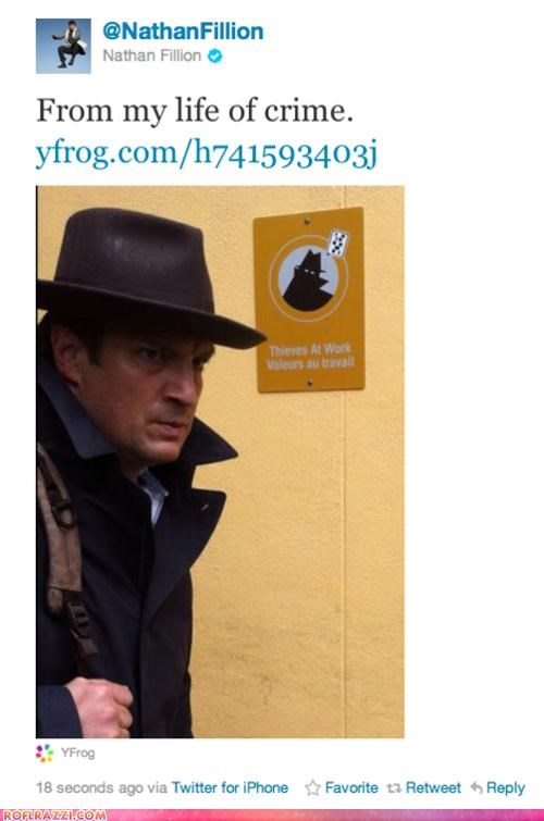 actor,celeb,funny,nathan filion,tweet,twitter