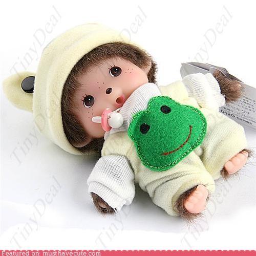 baby,doll,frog,monchihi