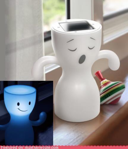 cute,ghosts,happy,night light,sleeping,smile,solar power