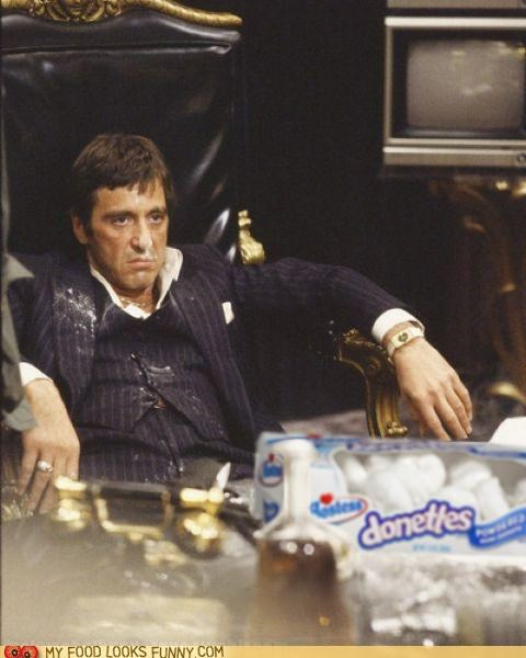 donuts,doughnuts,funny food photos,movies,scarface