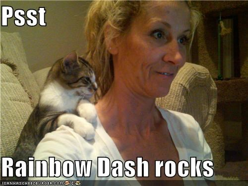 Psst  Rainbow Dash rocks