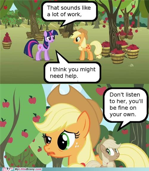 Applejack Lying to Herself