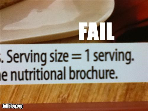 Serving Size Description FAIL