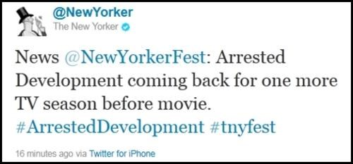 Breaking Arrested Development News of the Day