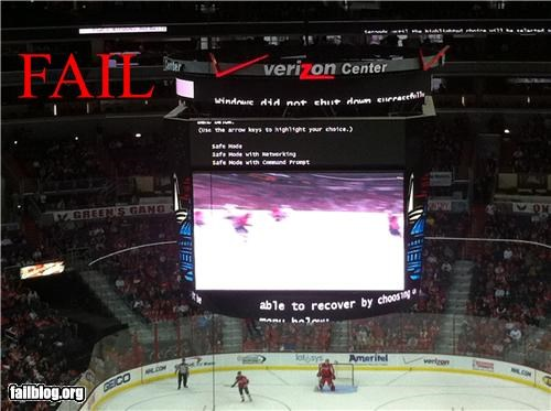 Verizon Center Jumbotron FAIL