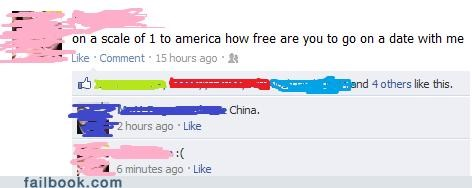 america,China,dating,ouch,politics,rejection