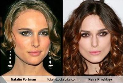 Keira Knightley and Natalie Portman looked so much alike on set, that their own mothers couldn't tell them apart.