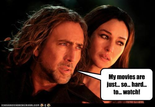 actors,bad actors,Monica Bellucci,movies,nicolas cage,roflrazzi